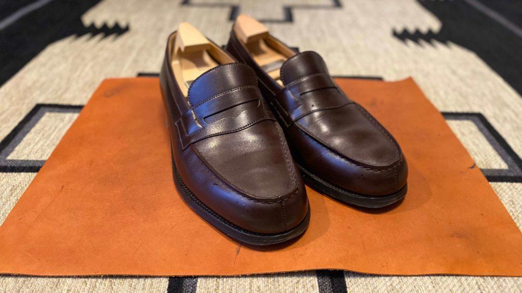 ジェイエムウェストン180_靴磨き前