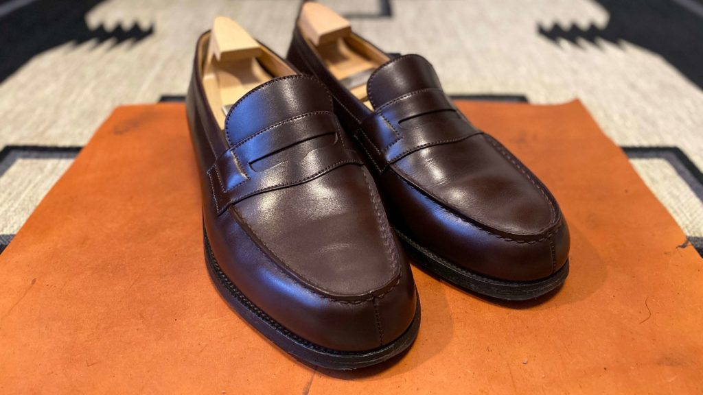 ジェイエムウェストン180_靴磨き後