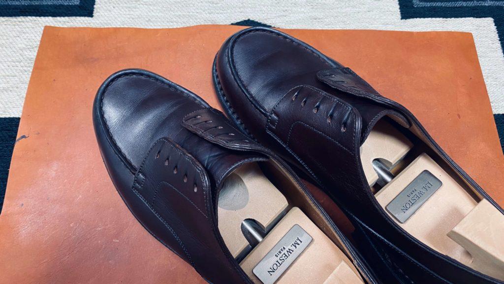 靴磨き_クリーム前