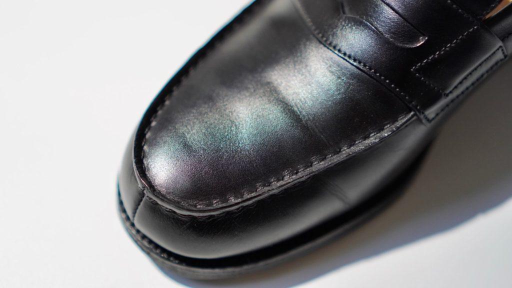 ジェイエムウエストン180黒の革質