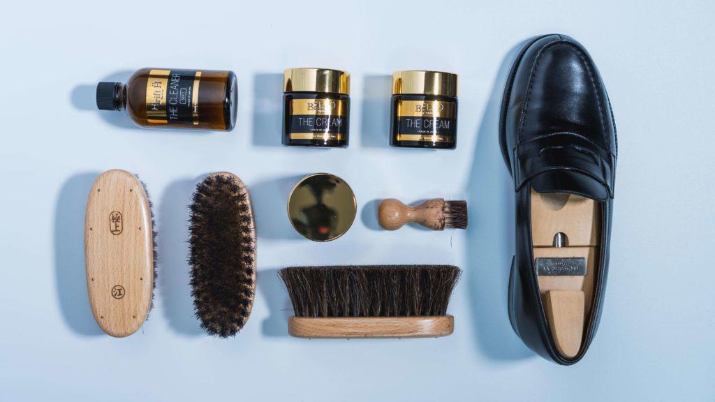 ジェイエムウエストン180と靴磨き道具