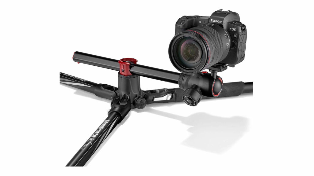 Manfrotto befree GT XPRO低アングル撮影イメージ