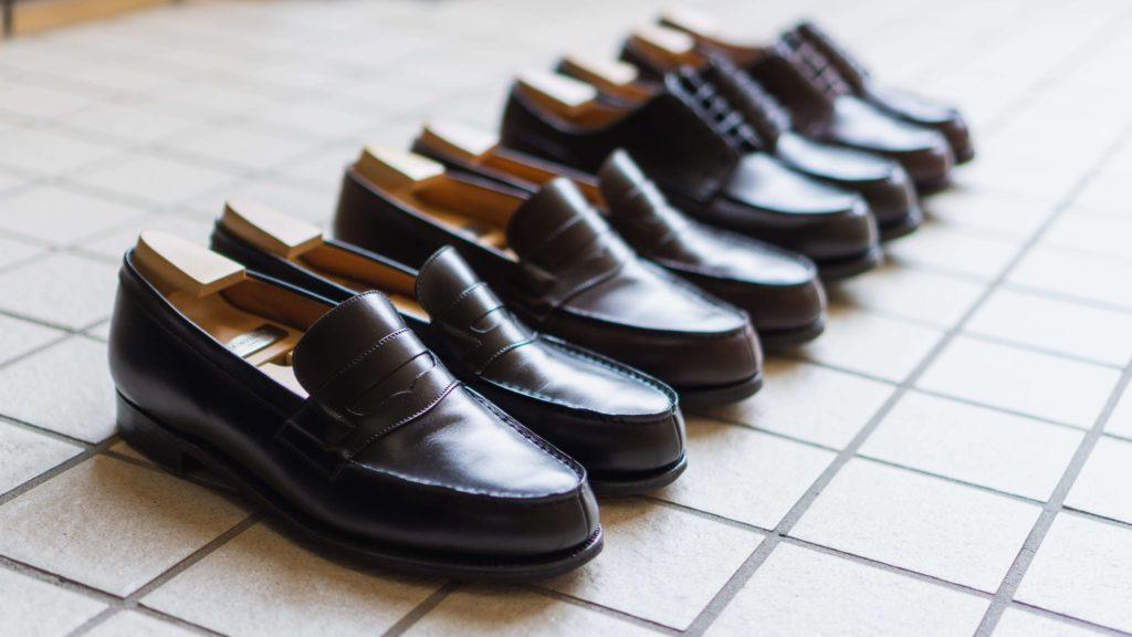 ジェイエムウエストンの靴4足を並べて