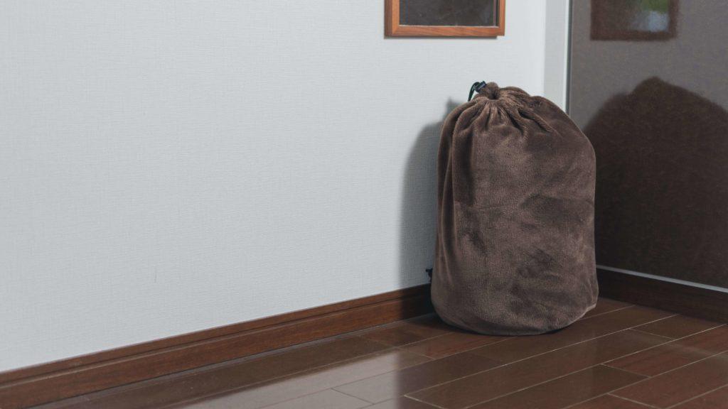 収納した寝袋