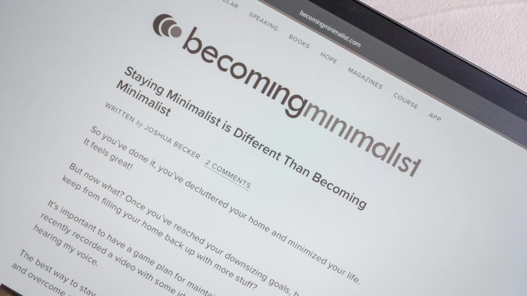 Staying Minimalist is Different Than Becoming Minimalist