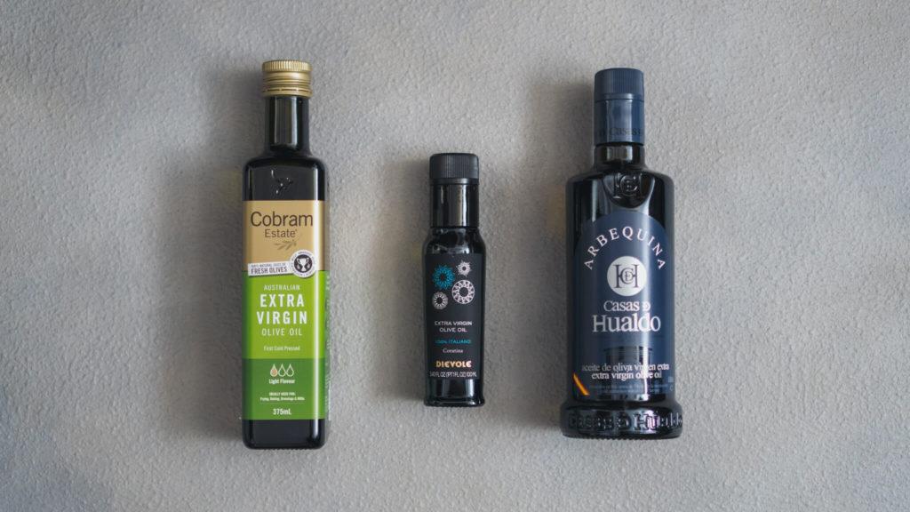 3種のオリーブオイル