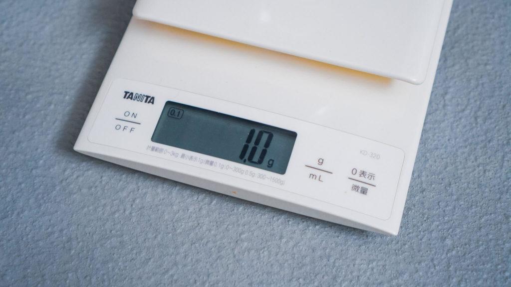タニタ キッチンスケール KD-320 WH