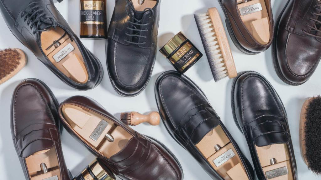 ジェイエムウエストンの靴とブラシ