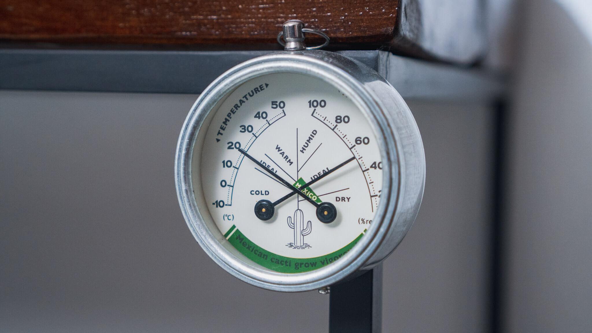 DULTON マグネット付き温湿度計 MEXICO