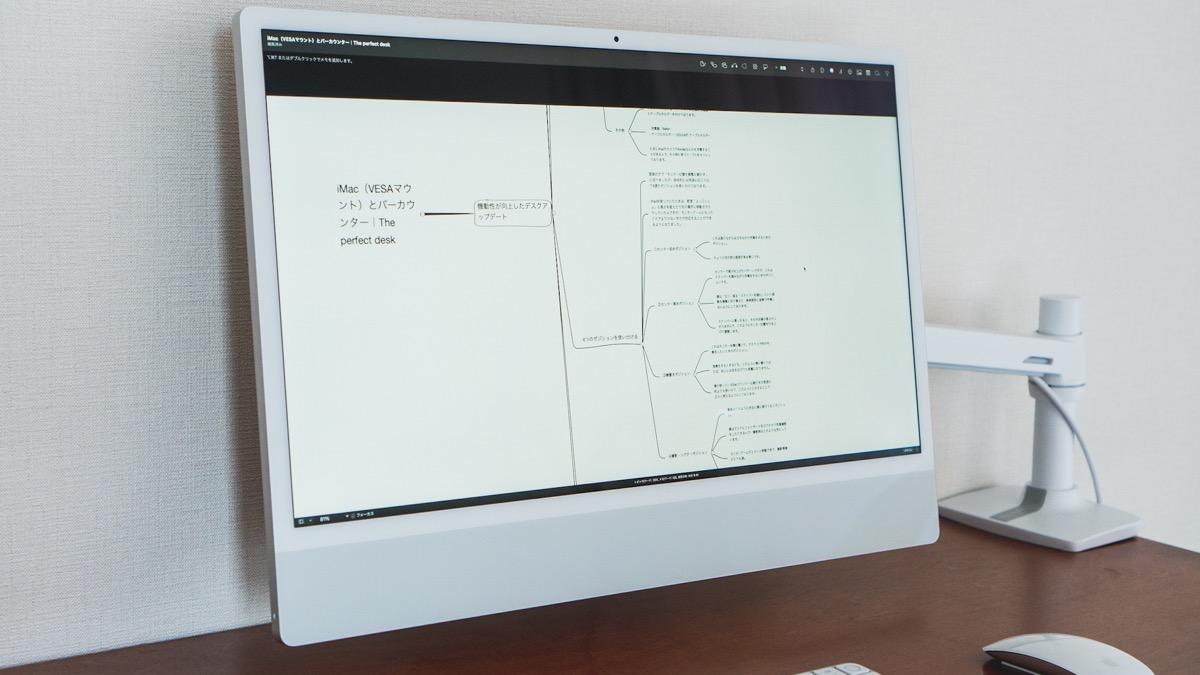 iMac上のiThought画面