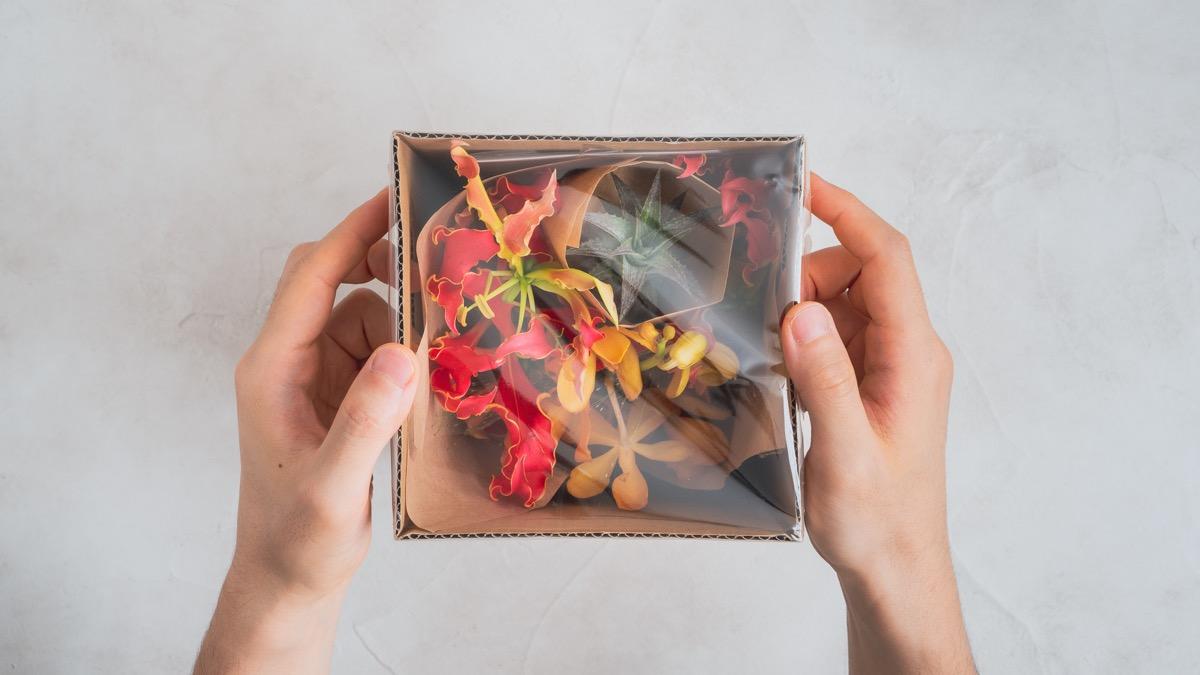 HitoHana(お花の定期便)の箱