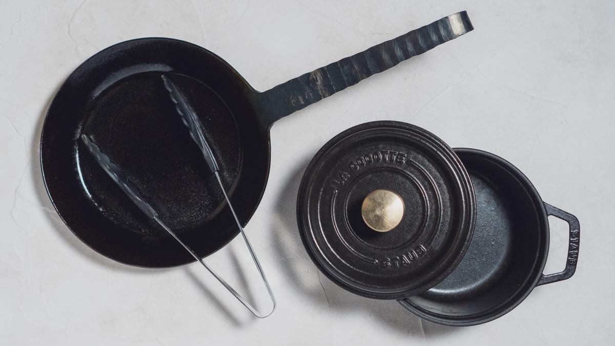 ストウブ鍋とターク鉄フライパン