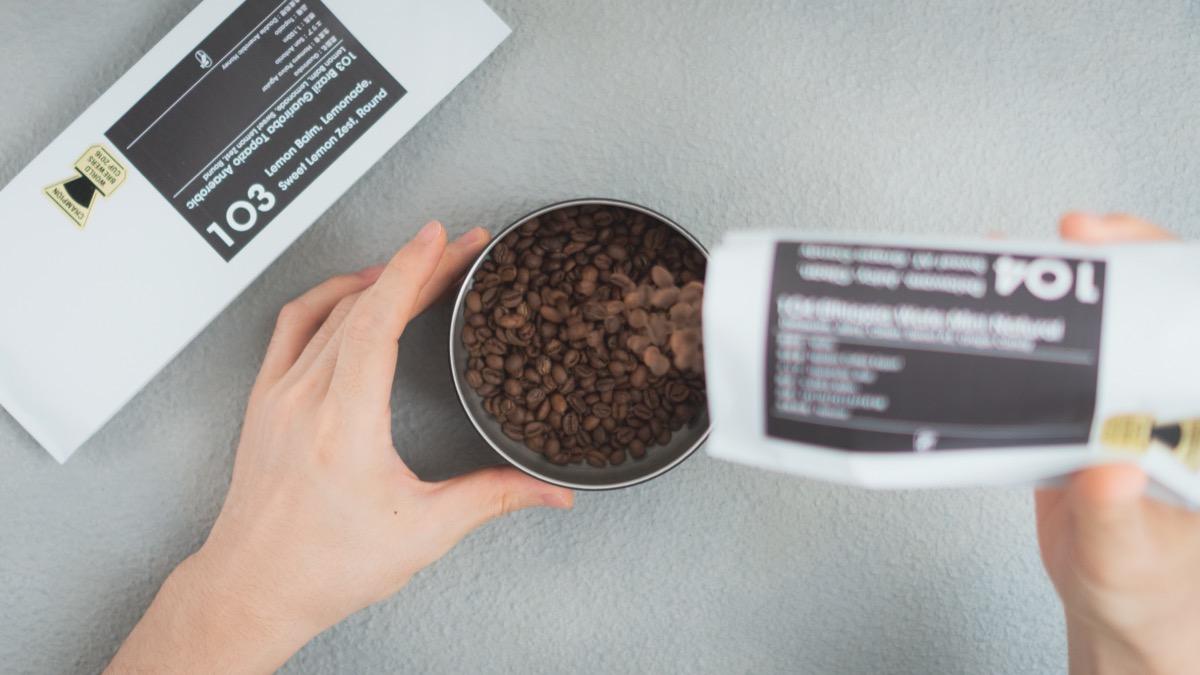 コーヒー豆のキャニスター
