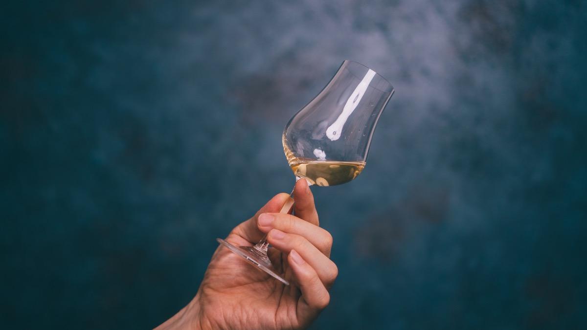 ストレートグラスと梅酒