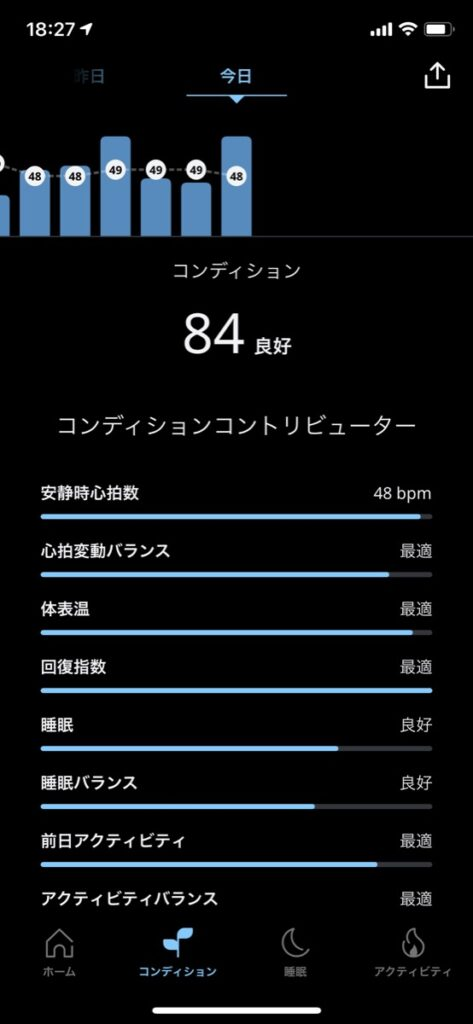Oura Ringアプリ画面3